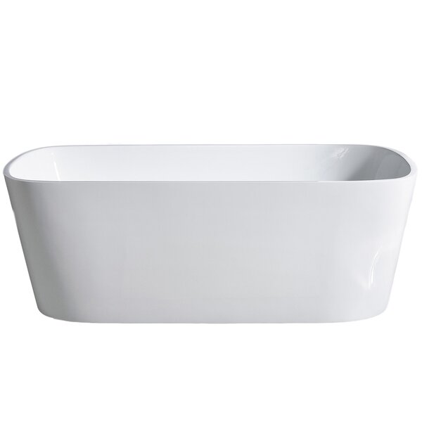 Aria 70'' x 32'' Freestanding Soaking Bathtub by Eviva