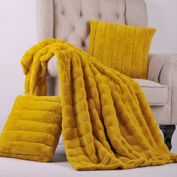 Grenville Rabbit Faux Fur Throw by Willa Arlo Interiors