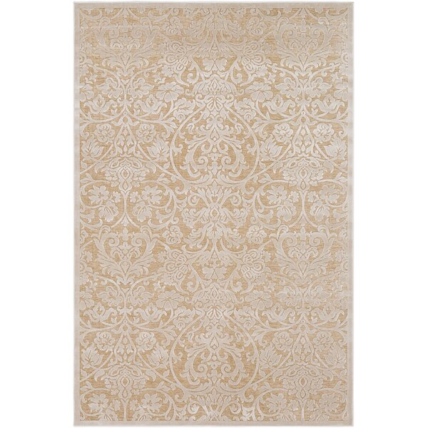 Geir Khaki/Tan Area Rug by Ophelia & Co.