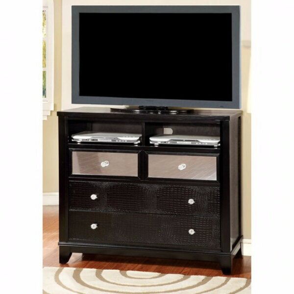 Clarion Textured Modern Media 4 Drawer Chest by World Menagerie