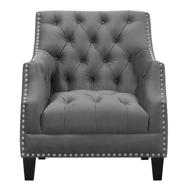 Yeager Tufted Wingback Chair by Charlton Home
