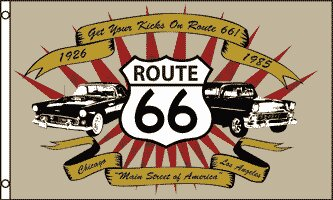 Route 66 (Cars) Traditional Flag by Flags Importer