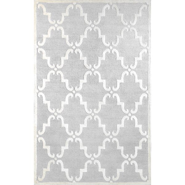 Divina Hand-Tufted Light Gray Area Rug by nuLOOM