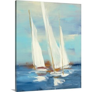 'Summer Regatta III' by Julia Purinton Painting Print on Wrapped Canvas by Great Big Canvas