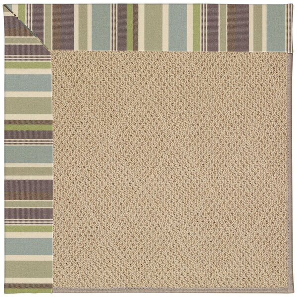 Lisle Machine Tufted Multi-colored/Beige Indoor/Outdoor Area Rug by Longshore Tides