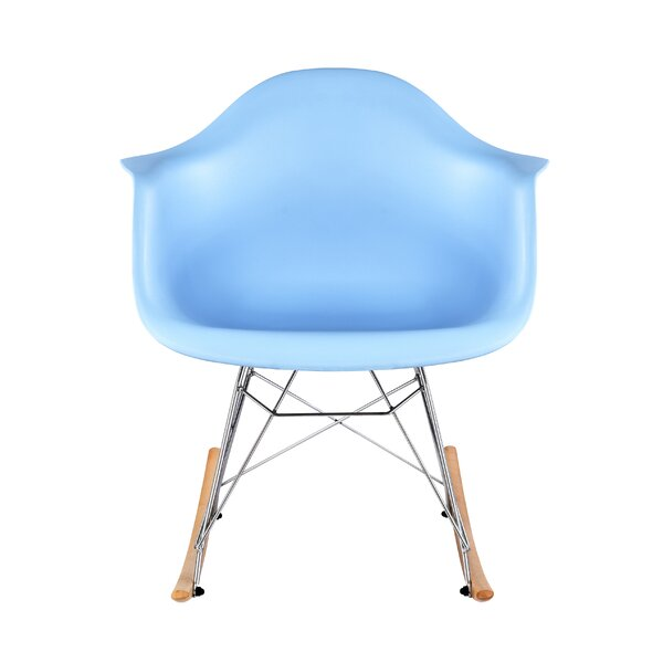 Wunderlich Mid-Century Rocking Chair by George Oliver