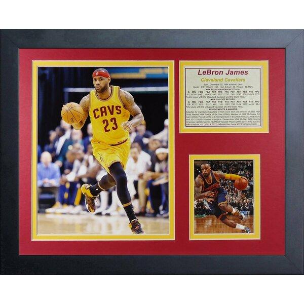 Lebron James Cleveland Cavaliers Framed Memorabilia by Legends Never Die