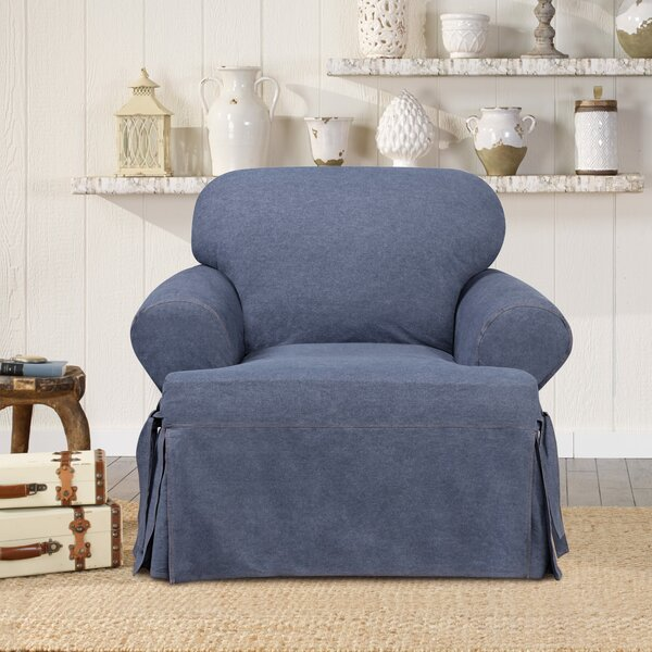 Authentic T-Cushion Armchair Slipcover by Sure Fit