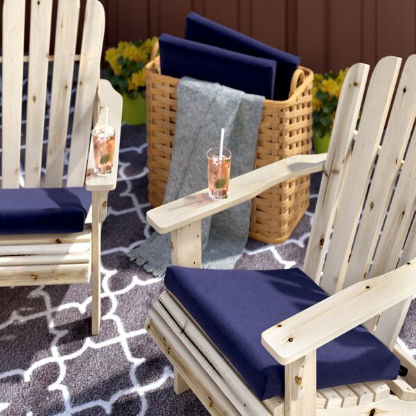 Indoor/Outdoor Adirondack Chair Cushion (Set of 4) by Andover Mills