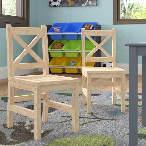 Merrill Solid Hardwood Kids Chair (Set of 2) by Harriet Bee