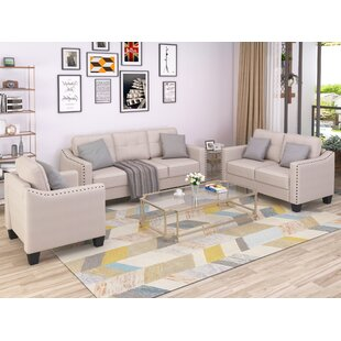 3 Piece Down Feather Living Room Set by Red Barrel Studio®