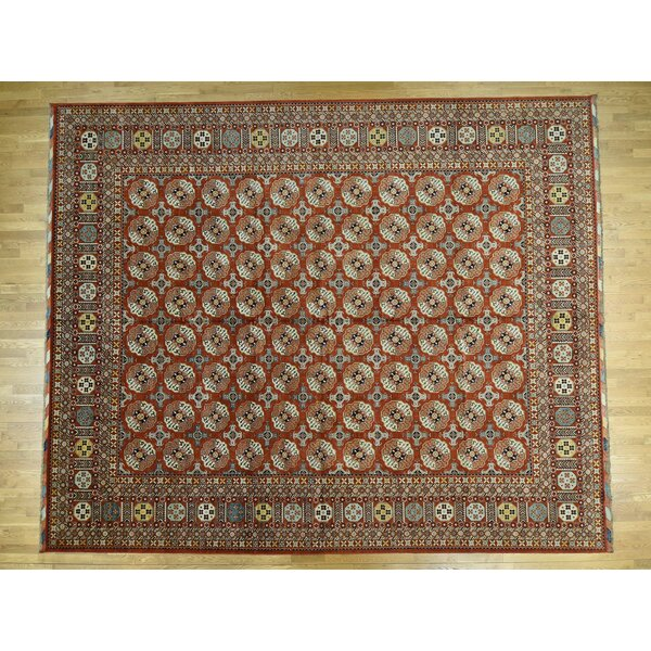 One-of-a-Kind Beatrix Hand-Knotted Brown 13'5 x 16'3 Wool Area Rug