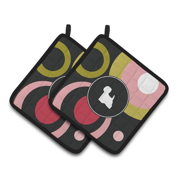 Westie Potholder (Set of 2) by East Urban Home