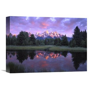 Nature Photographs Teton Range at Sunrise, Schwabacher Landing, Grand Teton National Park, Wyoming Photographic Print... by Global Gallery