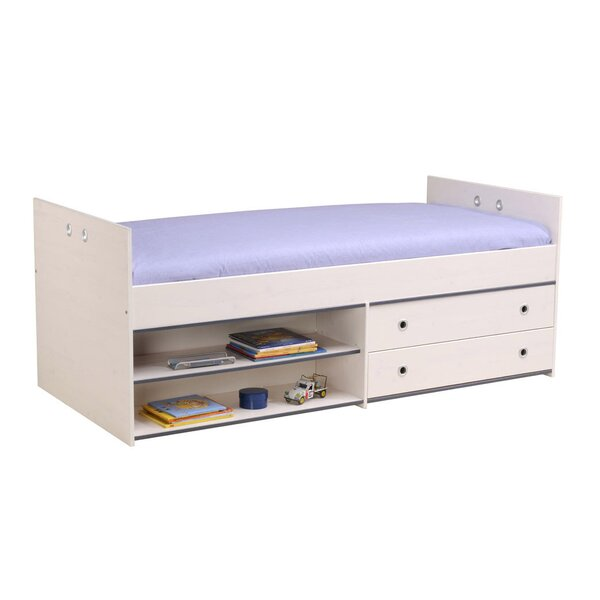 Ginger Twin Panel Bed with Drawers by Harriet Bee