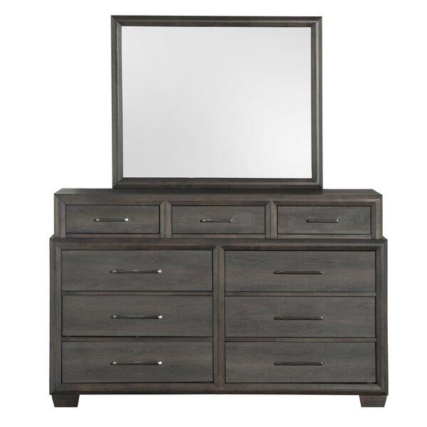 Kreger 9 Drawer Double Dresser with Mirror by Gracie Oaks Gracie Oaks