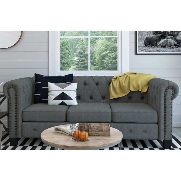 Shop Pre-loved Designer Trevino Chesterfield Sofa by Three Posts by Three Posts