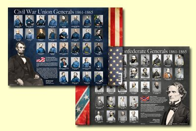 Civil War Generals Placemat (Set of 4) by Painless Learning Placemats