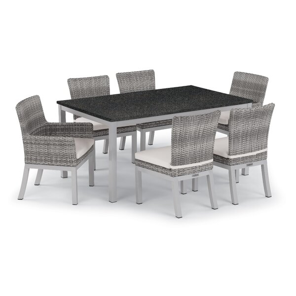 Saleem 7 Piece Dining Set with Cushions