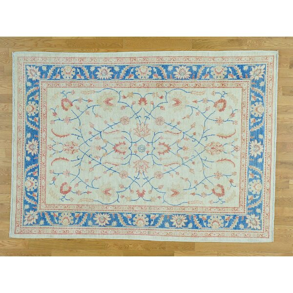 One-of-a-Kind Beaumont Hand-Knotted Ivory Wool Area Rug by Isabelline