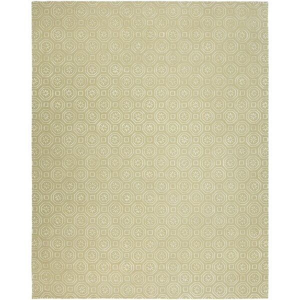 Rivka Hand-Tufted Wool Beige Area Rug by Ophelia & Co.