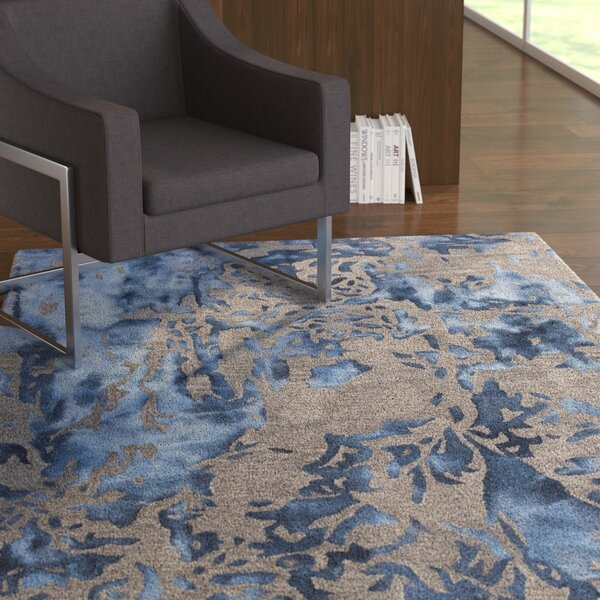 Steves Hand-Tufted Blue/Gray Area Rug by Latitude Run