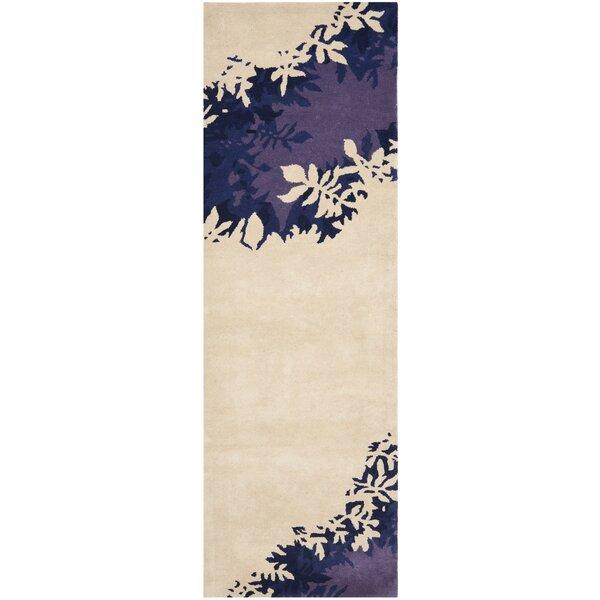Lockwood Beige / Purple Rug by Ebern Designs