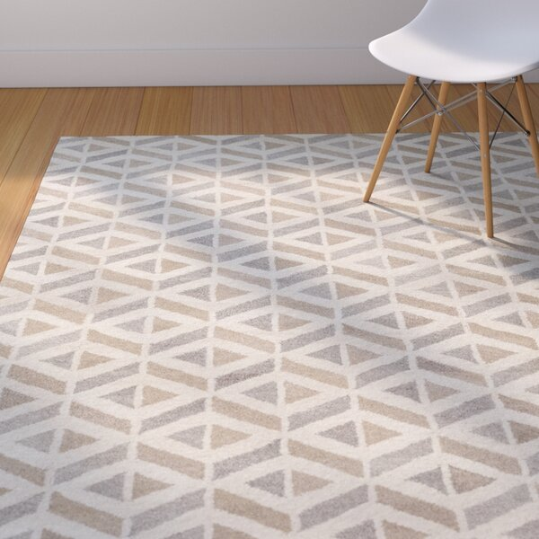 Crankill Hand-Tufted Cream/Taupe Area Rug by Langley Street