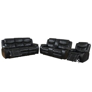 Pollux 3 Piece Reclining Living Room Set (Set of 3) by Williams Import Co.