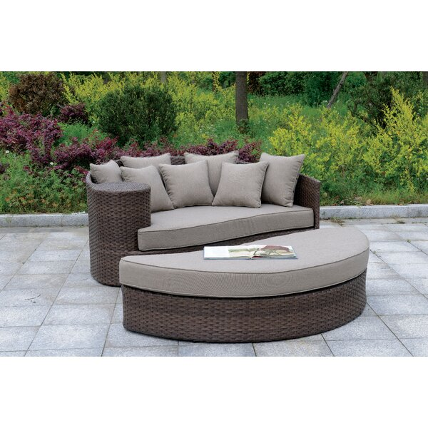 Whyte Contemporary Patio Daybed with Cushions by Bloomsbury Market