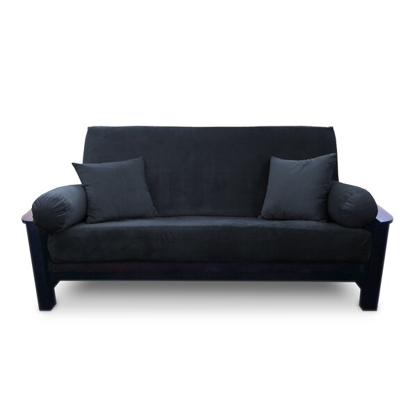 Simoes Solid Box Cushion Futon Slipcover By Latitude Run