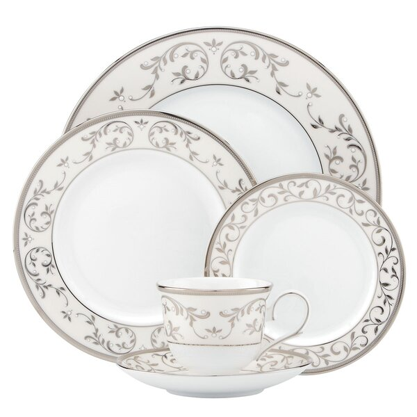 Opal Innocence Silver Bone China 5 Piece Place Setting, Service for 1 by Lenox