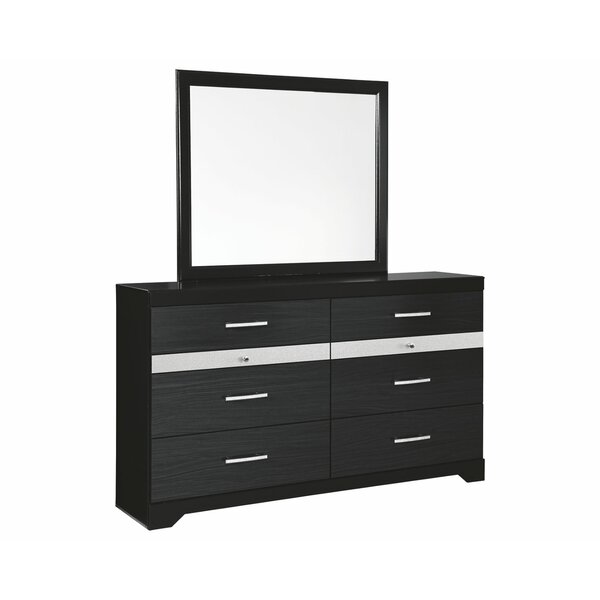 Starberry 6 Drawer Double Dresser with Mirror by Signature Design by Ashley