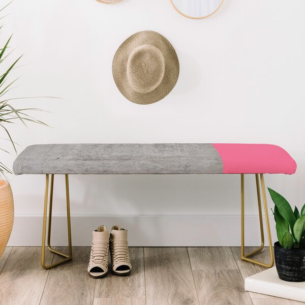 Emanuela Carratoni Faux Leather Bench by East Urban Home