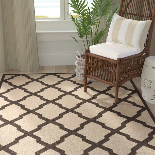 Cashion Cream/Brown Area Rug by Longshore Tides