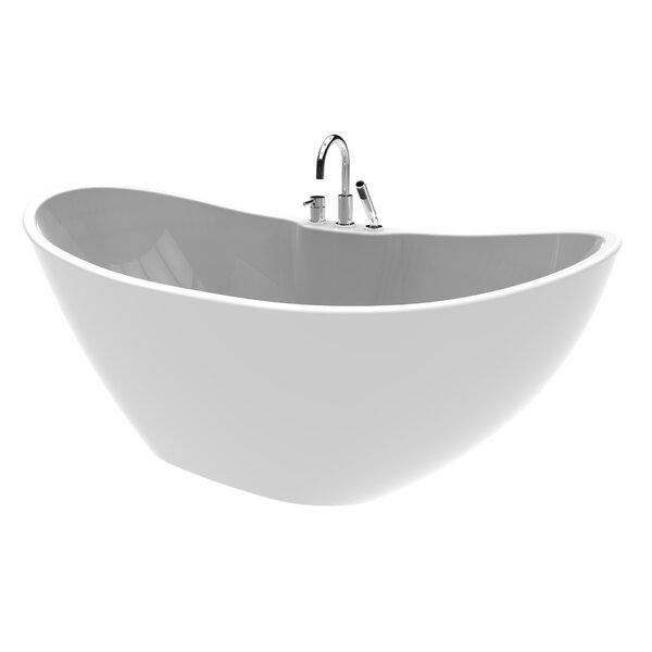 Turin 69 x 27 Freestanding Soaking Bathtub by A&E Bath and Shower