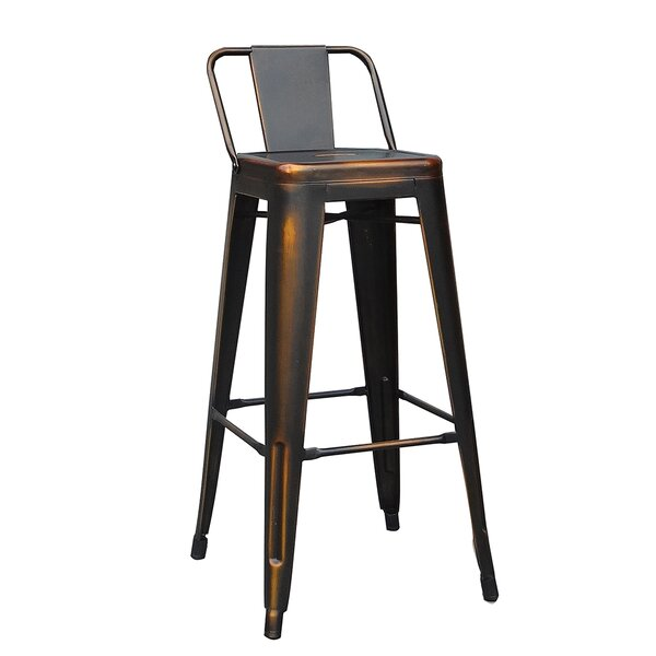 Elks 30 Bar Stool (Set of 4) by 17 Stories