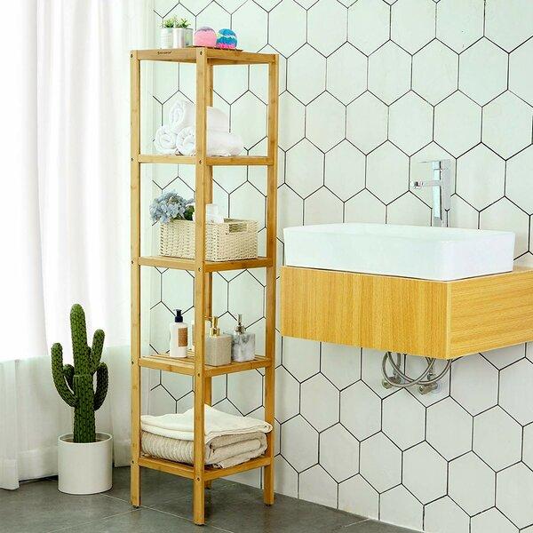 Emig Bamboo Bathroom Shelf Standard Bookcase By Rosecliff Heights