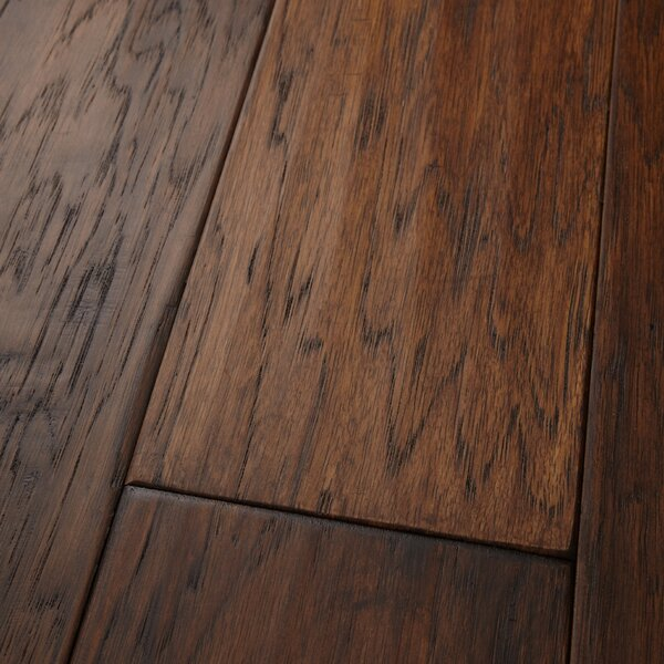 Mountain View 5 Engineered Hickory Hardwood Flooring in Fawn by Mannington