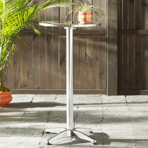 Corns Folding Aluminum Bar Table by Mercury Row