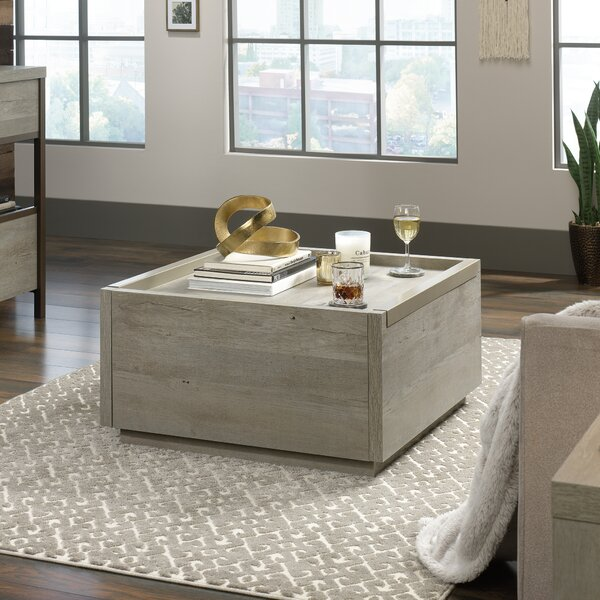 Alder Coffee Table with Storage by Union Rustic
