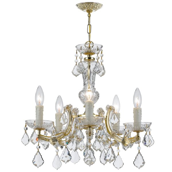 Griffiths 5 - Light Candle Style Classic/Traditional Chandelier by House of Hampton House of Hampton