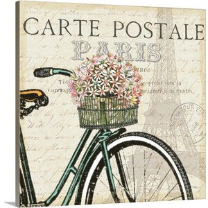 Paris Ride I Vintage Advertisement on Wrapped Canvas by Great Big Canvas