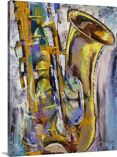 Jazz Sax by Michael Creese Painting Print on Canvas by Canvas On Demand