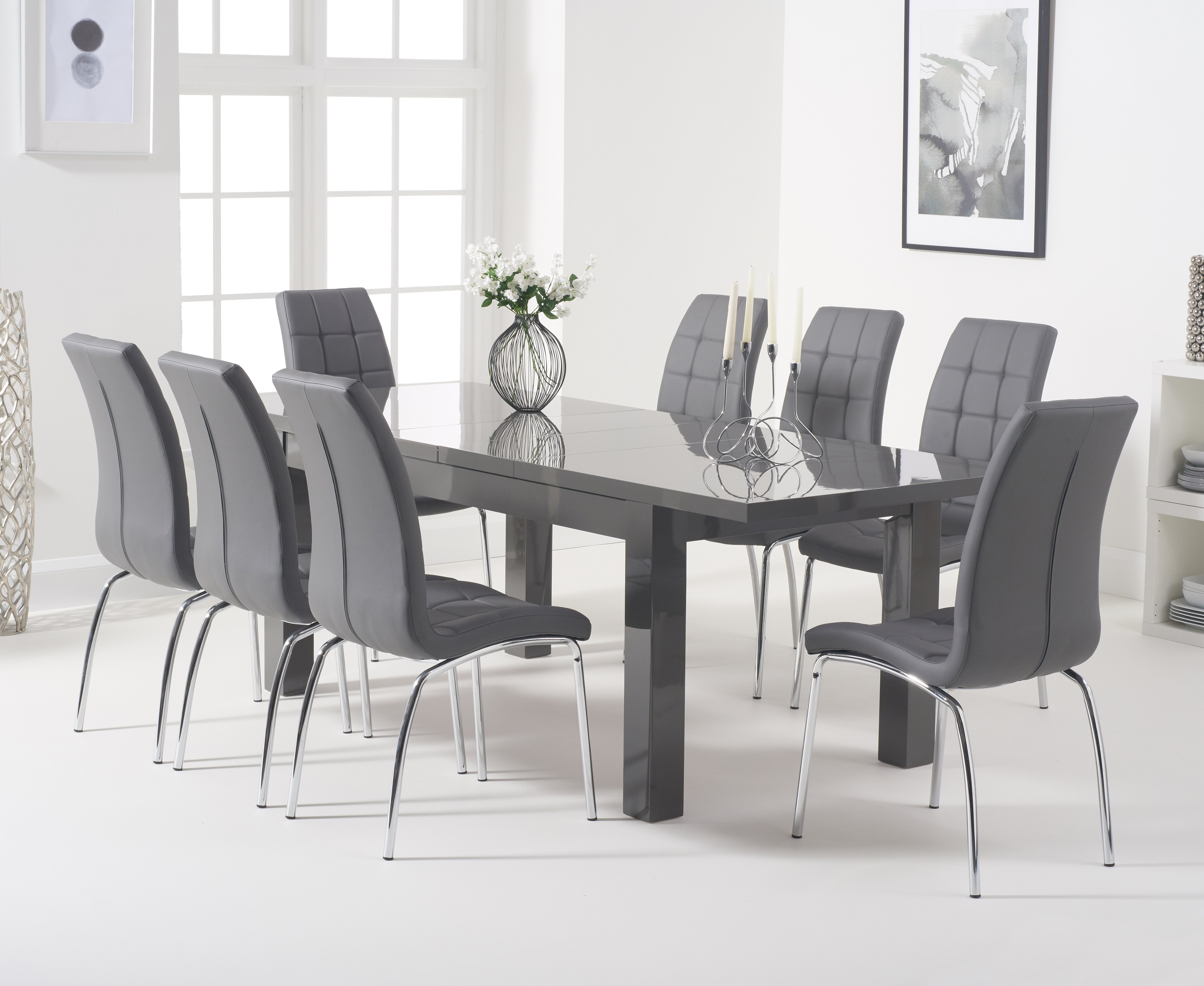 17 Stories Crovetti Extendable Dining Set With 8 Chairs Reviews Wayfair Co Uk