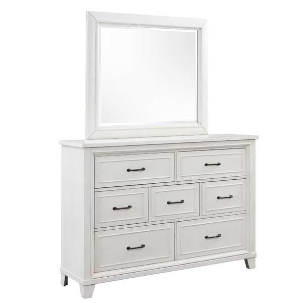 Robitaille Weathered 7 Drawer Dresser with Mirror by Canora Grey