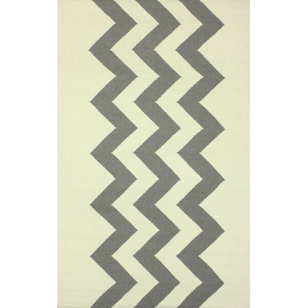 Flatweave Morgan Hand-Flat Woven Gray/Beige Area Rug by nuLOOM