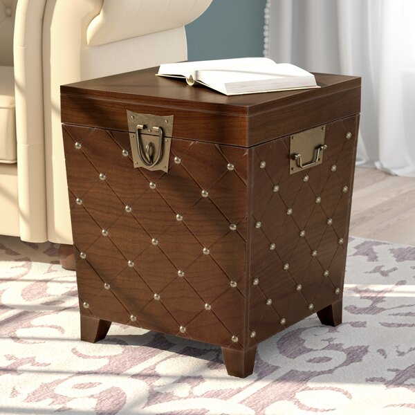 Hassania Nailhead Trunk End Table by World Menagerie