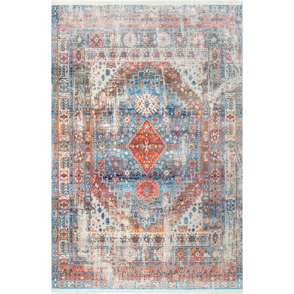 Houston Blue/Orange Area Rug by Laurel Foundry Modern Farmhouse