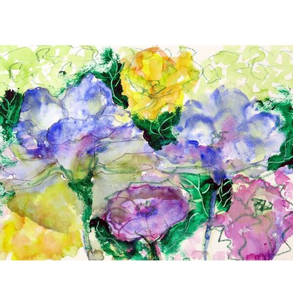 Watercolor Garden Placemat (Set of 4) by Betsy Drake Interiors
